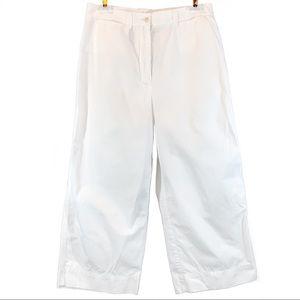 NEW Ralph Lauren sz 6 white high rise cotton capri